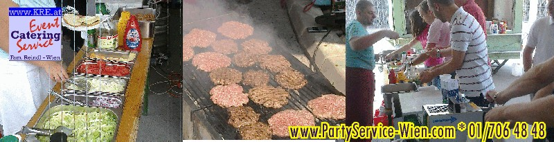 Amercian Burger und Imbiss-Stand beim Firmenevent