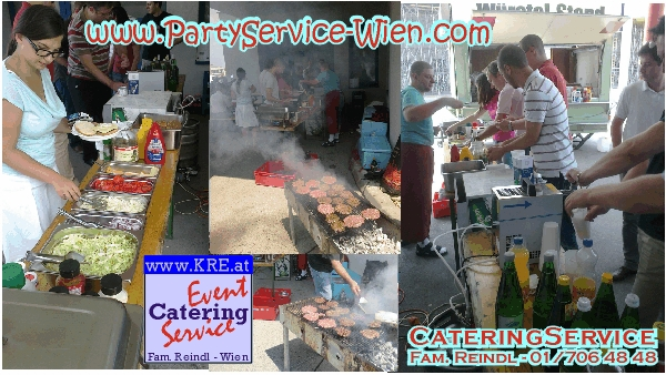 BBQ-LIVE-EVENT PartyService AMERICAN HAMBURGER BUFFET GRILL