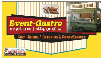 mobiler-W�rstelstand Wien - Event-Gastronomie - Party-Service