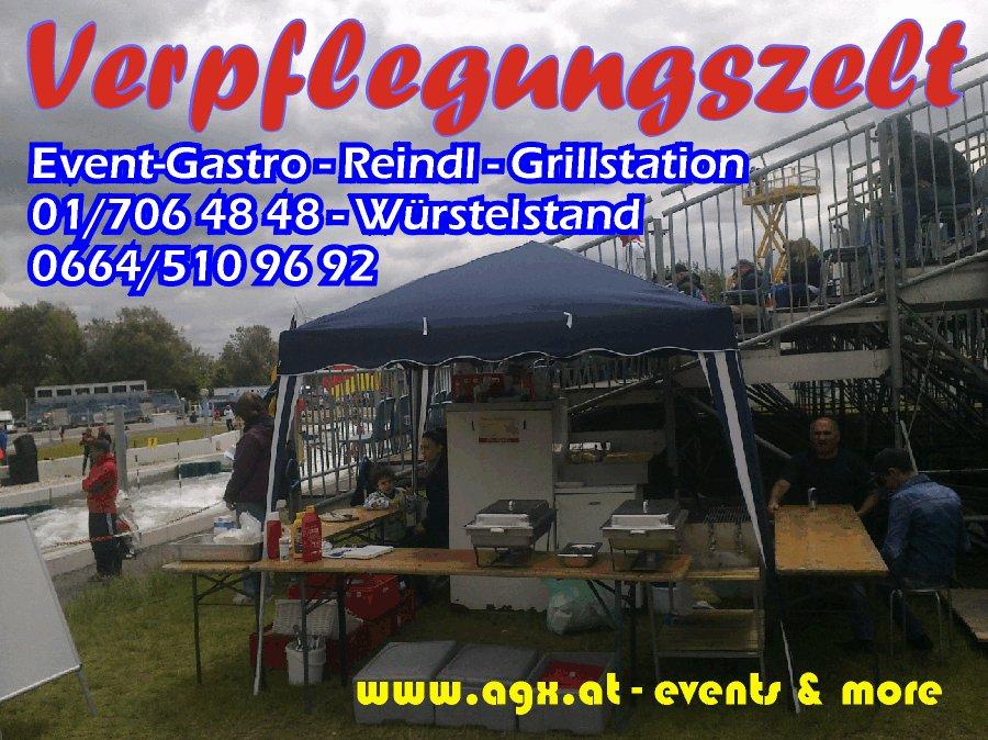 Donauinsel Verpflegungsstand Essenszelt Event Verkauf W�rstel
