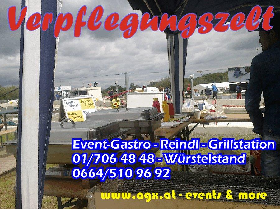 Donauinsel Verpflegungsstand Essenszelt Event